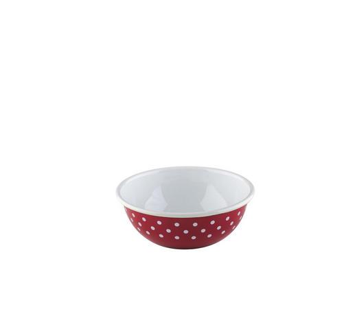 SCHÜSSEL - Rot/Weiß, LIFESTYLE, Metall (14,30/14,30/5,10cm) - Riess