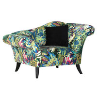 FOTELJ  večbarvno tekstil - temno siva/temno rjava, Design, tekstil/les (138/84-46/85cm) - Landscape