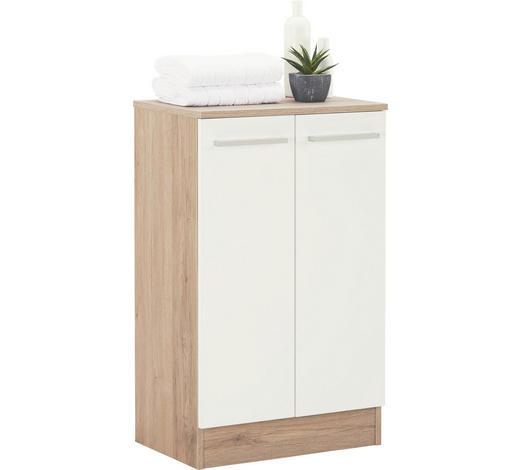 SPODNÍ SKŘÍŇKA, barvy dubu - bílá/barvy dubu, Design, kov/kompozitní dřevo (50/81/33cm) - Xora