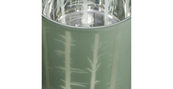 Teelichthalter Baltus D/H: ca. 8,8/10cm - Grau/Grün, KONVENTIONELL, Glas (8,8/10cm) - Ombra