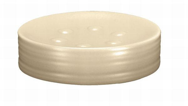 POSUDA ZA SAPUN - krem, Konvencionalno, keramika (11,6/2,5cm) - KLEINE WOLKE