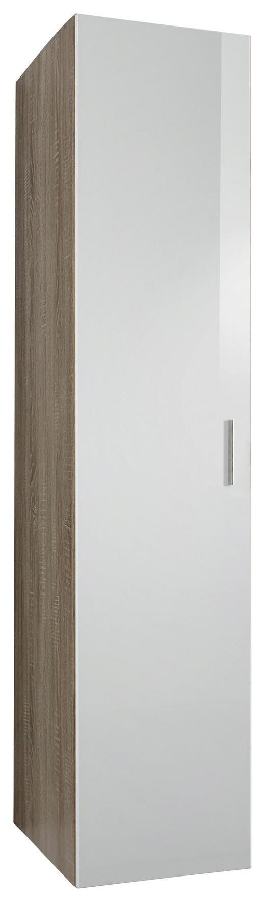 GARDEROBENSCHRANK 40/185/54 cm - Chromfarben/Eichefarben, Design, Holzwerkstoff/Kunststoff (40/185/54cm) - Xora