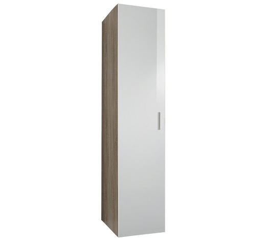 GARDEROBENSCHRANK 50/185/40 cm - Chromfarben/Eichefarben, Design, Holzwerkstoff/Kunststoff (50/185/40cm) - Xora