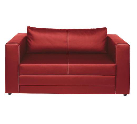 SCHLAFSOFA Lederlook Rot  - Rot/Schwarz, Design, Kunststoff/Textil (150/78/70cm) - Carryhome