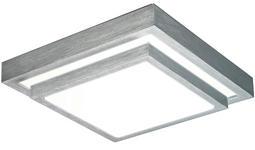 LED-DECKENLEUCHTE 24 W    40/40/9 cm  - Alufarben/Weiß, Basics, Kunststoff/Metall (40/40/9cm) - Novel