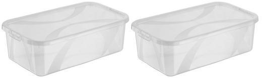 BOX MIT DECKEL 34/20/11 cm - Transparent, Basics, Kunststoff (34/20/11cm) - Rotho