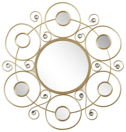 WANDSPIEGEL - Goldfarben, Trend, Glas/Metall (50cm)
