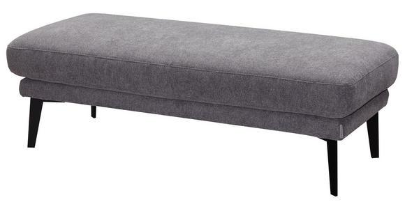 WOHNLANDSCHAFT in Textil Grau - Schwarz/Grau, Design, Textil/Metall (226/281cm) - Valnatura