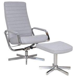 RELAXFÅTÖLJ - kromfärg/grå, Design, metall/textil (65/97-107/71-101cm) - Carryhome