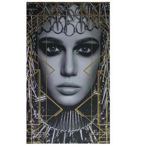 KONSTTRYCK - vit/svart, Design, trä/textil (70/120cm) - Monee