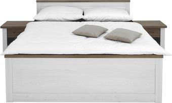 SET KREVETA I NOĆNIH ORMARIĆA - bijela/boje tartuf hrasta, Design, drvni materijal (306/92/206cm) - Carryhome