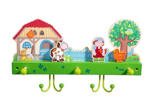 WANDGARDEROBE Buche massiv Multicolor - Multicolor, Basics, Holz (40/24cm) - Haba