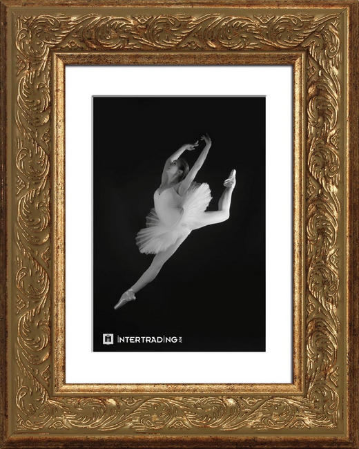 BILDERRAHMEN  Goldfarben - Goldfarben, LIFESTYLE, Glas/Holz (36/46cm) - Sadena