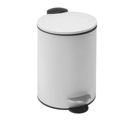 NÁŠLAPNÝ KOŠ, bílá - bílá/černá, Basics, kov/umělá hmota (16,8/25cm) - Homeware