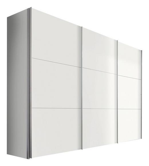 SCHWEBETÜRENSCHRANK 3  -türig Weiß - Alufarben/Weiß, KONVENTIONELL, Holzwerkstoff/Metall (300/216/68cm) - Hom`in