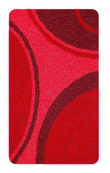 BADTEPPICH  Rot  70/120 cm - Rot, Kunststoff/Textil (70/120cm) - KLEINE WOLKE