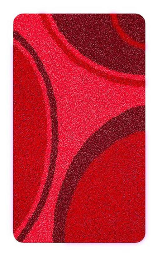 BADTEPPICH  Rot  50/65 cm - Rot, Kunststoff/Textil (50/65cm) - KLEINE WOLKE
