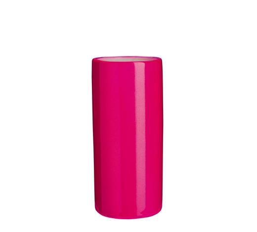 ZAHNPUTZBECHER Keramik - Pink, Basics, Keramik (5,5/10cm) - Kleine Wolke