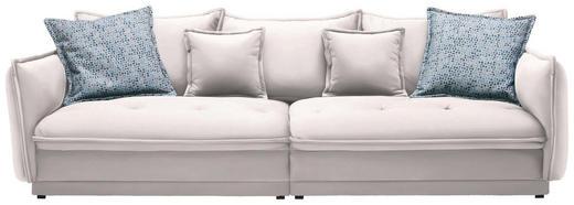 BIGSOFA in Textil Weiß - Weiß, Design, Textil (295/88/134cm) - Hom`in