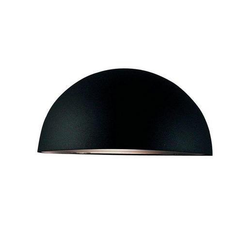 AUßENLEUCHTE Schwarz - Schwarz, Design, Kunststoff/Metall (20/10cm)