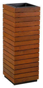 BLUMENSÄULE Holz, Kunststoff Akazie massiv - Akaziefarben, MODERN, Holz/Kunststoff (24,5/72/24,5cm) - Ambia Garden