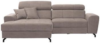 WOHNLANDSCHAFT in Textil Beige  - Beige/Schwarz, MODERN, Textil/Metall (181/267cm) - Carryhome