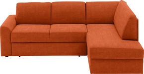 WOHNLANDSCHAFT in Textil Braun  - Schwarz/Braun, KONVENTIONELL, Kunststoff/Textil (227/167cm) - Venda