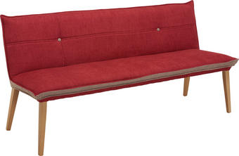 KLUPA - siva/boje hrasta, Konvencionalno, drvo/tekstil (179/80/60cm) - Voleo