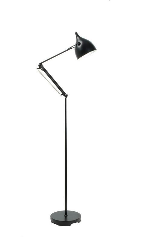 STEHLEUCHTE - Schwarz, Design, Metall (25/167cm)