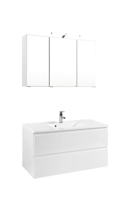 BADEZIMMER Weiß - Weiß, Design (100/64/47cm) - Xora