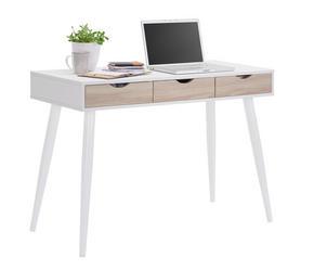 SKRIVBORD - vit/ekfärgad, Design, metall/träbaserade material (110/77,1/50cm) - Carryhome
