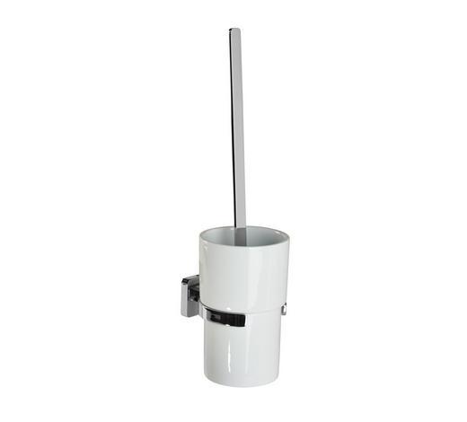 WC-BÜRSTENGARNITUR in Metall - Chromfarben/Weiß, Basics, Keramik/Kunststoff (11/39,40cm)