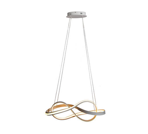 LED-HÄNGELEUCHTE - Opal/Weiß, Design, Kunststoff/Metall (78/25/120cm) - Ambiente