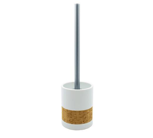 WC SADA - bílá/barvy chromu, Basics, kov/dřevo (9,5/39/9,5cm) - Sadena