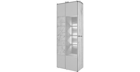 VITRINE in vollmassiv Kerneiche Eichefarben, Fango - Fango/Eichefarben, Design, Glas/Holz (70/196/39cm) - Valnatura