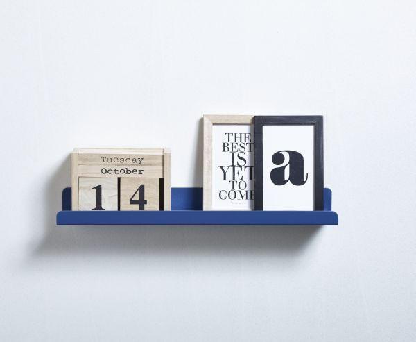 WANDBOARD Blau - Blau, Design, Metall (40/8cm) - FLEXA