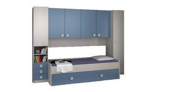 MLADINSKA SOBA modra, bela  - modra/bela, Moderno, leseni material (285/210/94cm) - Carryhome