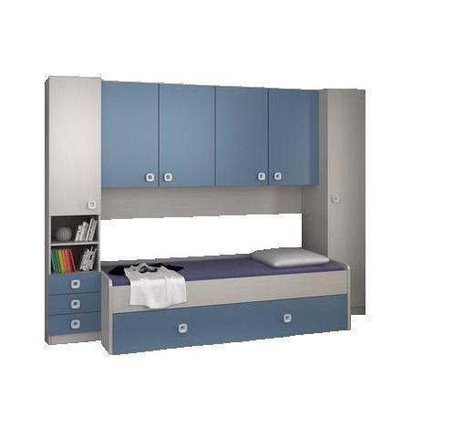 SOBA ZA MLADE - bijela/plava, Moderno, drvni materijal (285/210/94cm) - Carryhome