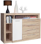SIDEBOARD 161/107/43 cm - Eichefarben/Alufarben, Design, Holzwerkstoff/Kunststoff (161/107/43cm) - Ti`me