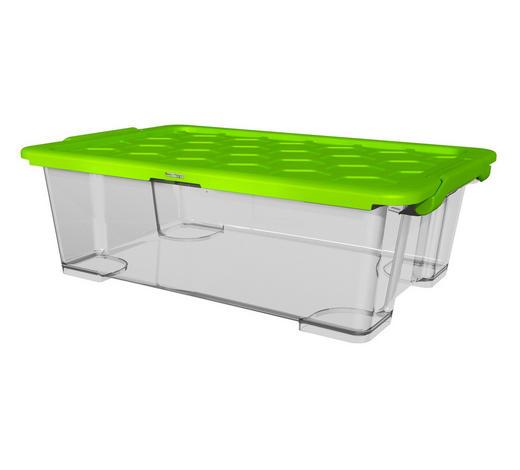 BOX MIT DECKEL 59/39,5/18,5 cm  - Transparent/Grün, KONVENTIONELL, Kunststoff (59/39,5/18,5cm) - Rotho