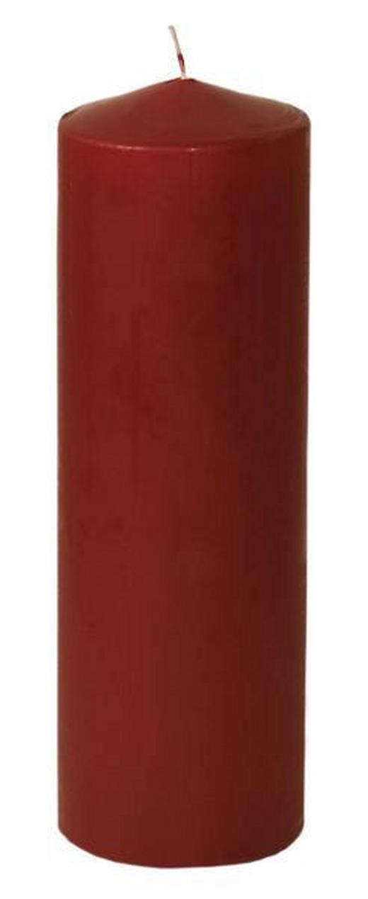 STUMPENKERZE 8,7/28 cm - Dunkelrot, Basics (8,7/28cm) - Steinhart