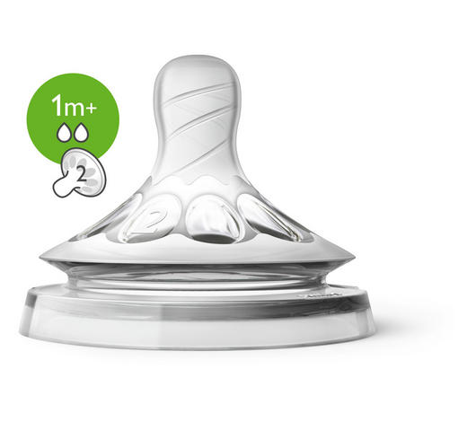 FLÄSCHCHENSAUGER 1 Monat(en) - Transparent, Basics, Kunststoff (13,5/6cm) - Avent