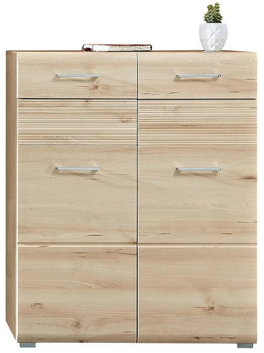 SCHUHSCHRANK foliert, geriffelt Buchefarben - Buchefarben, KONVENTIONELL (84/104/40cm) - Voleo