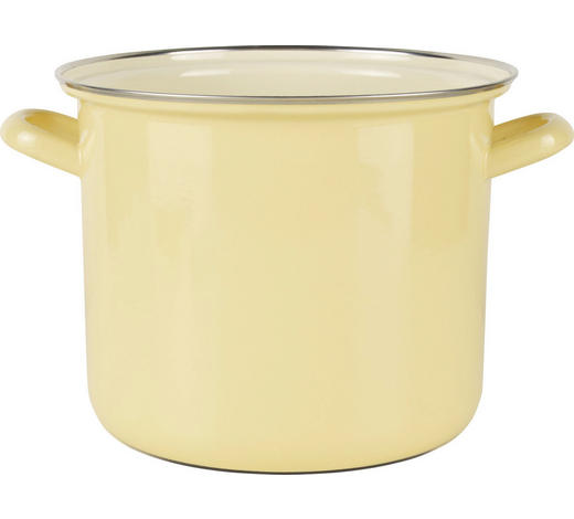 KOCHTOPF - Gelb, Basics, Metall (27,5/21,5/17,2cm) - Riess