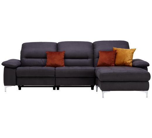 WOHNLANDSCHAFT in Textil Anthrazit - Anthrazit, Design, Textil (280/184cm) - Pure Home Comfort