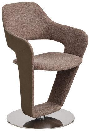 STOL - ljusbrun/rostfritt stål-färgad, Design, metall/textil (62/90/62cm) - Novel
