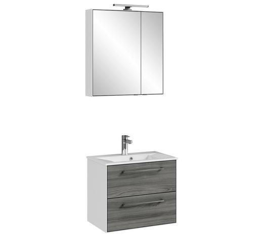 BADEZIMMER Weiß  - Weiß/Grau, KONVENTIONELL, Naturmaterialien (63,6/200/44,7cm) - Carryhome