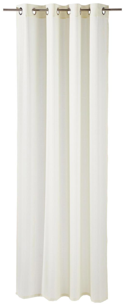 ÖSENSCHAL   140/245 cm - Creme, KONVENTIONELL, Textil (140/245cm) - Esposa
