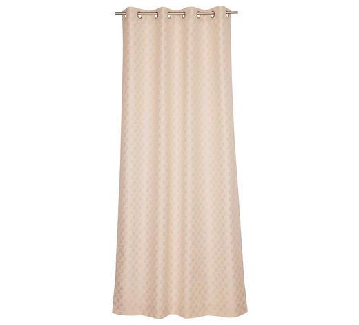 ÖSENSCHAL  blickdicht  140/250 cm   - Beige, Design, Textil (140/250cm) - Joop!