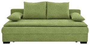 SCHLAFSOFA in Textil Grün  - Schwarz/Grün, KONVENTIONELL, Kunststoff/Textil (207/74-94/90cm) - Venda